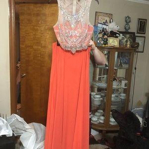 Coral/Orange prom dress